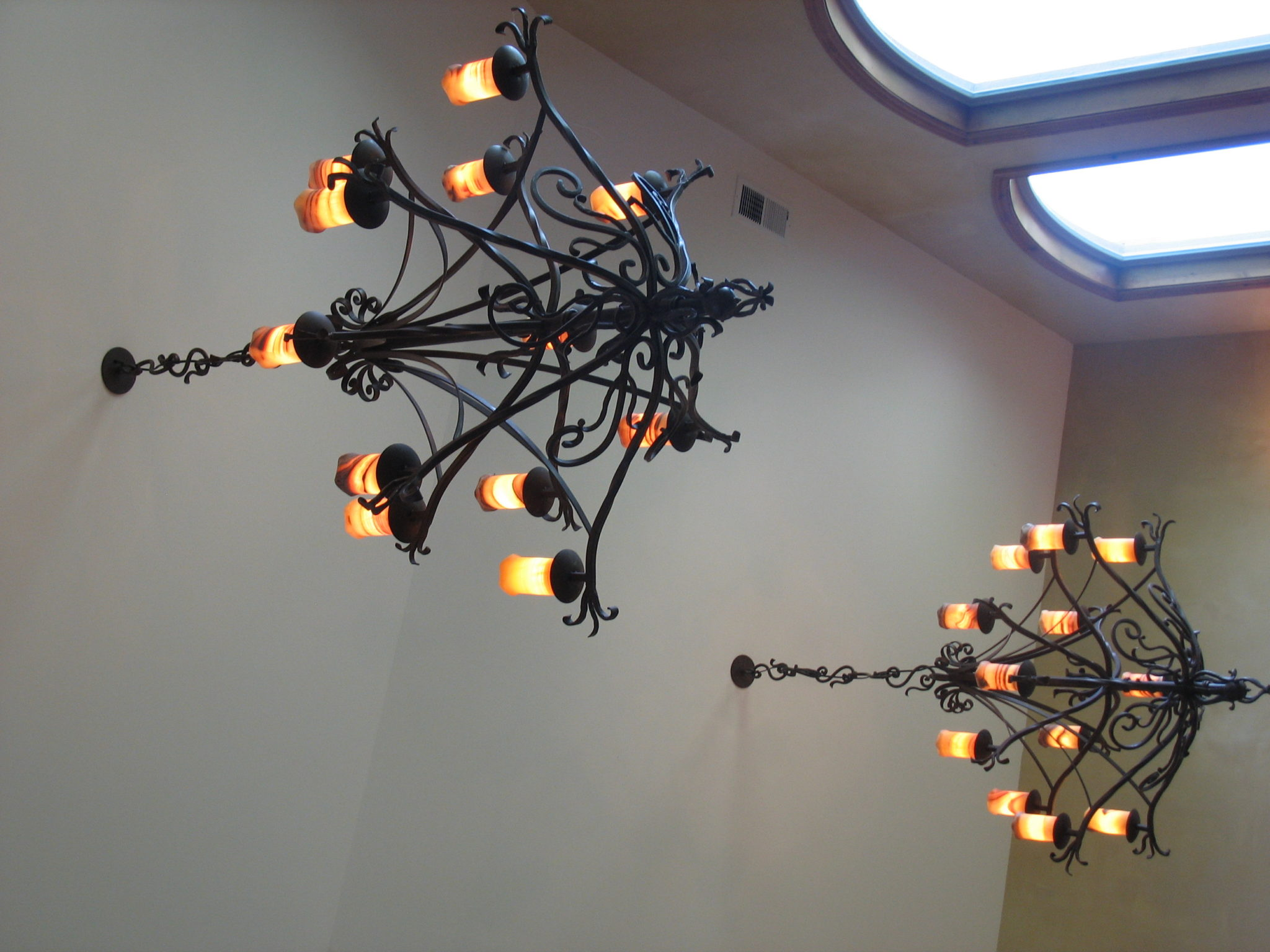 Wrought iron chandelier – Metal and Iron Artistry LLC