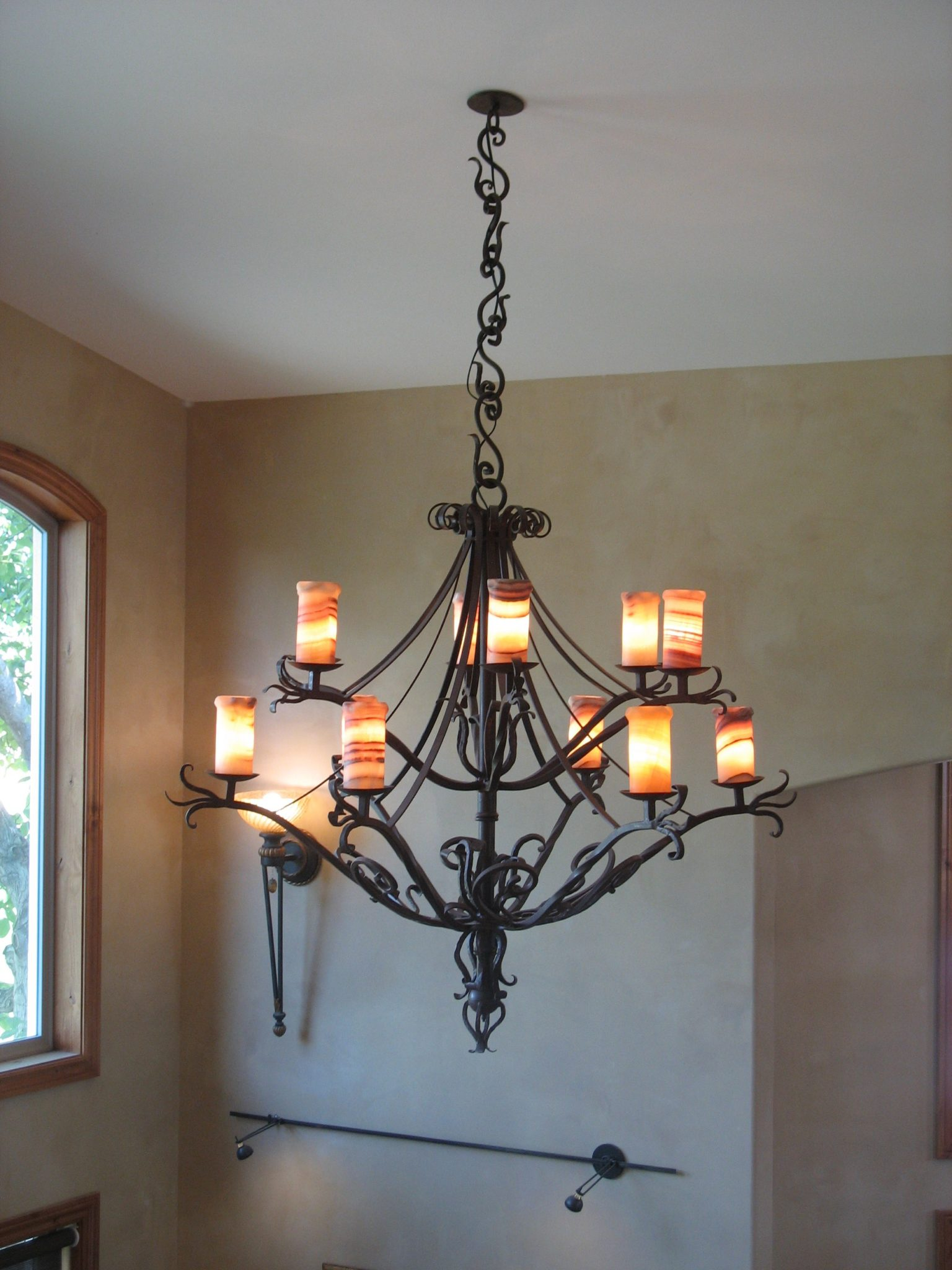 Large iron chandelier metal and iron artistry llc arubaitofo Image collections
